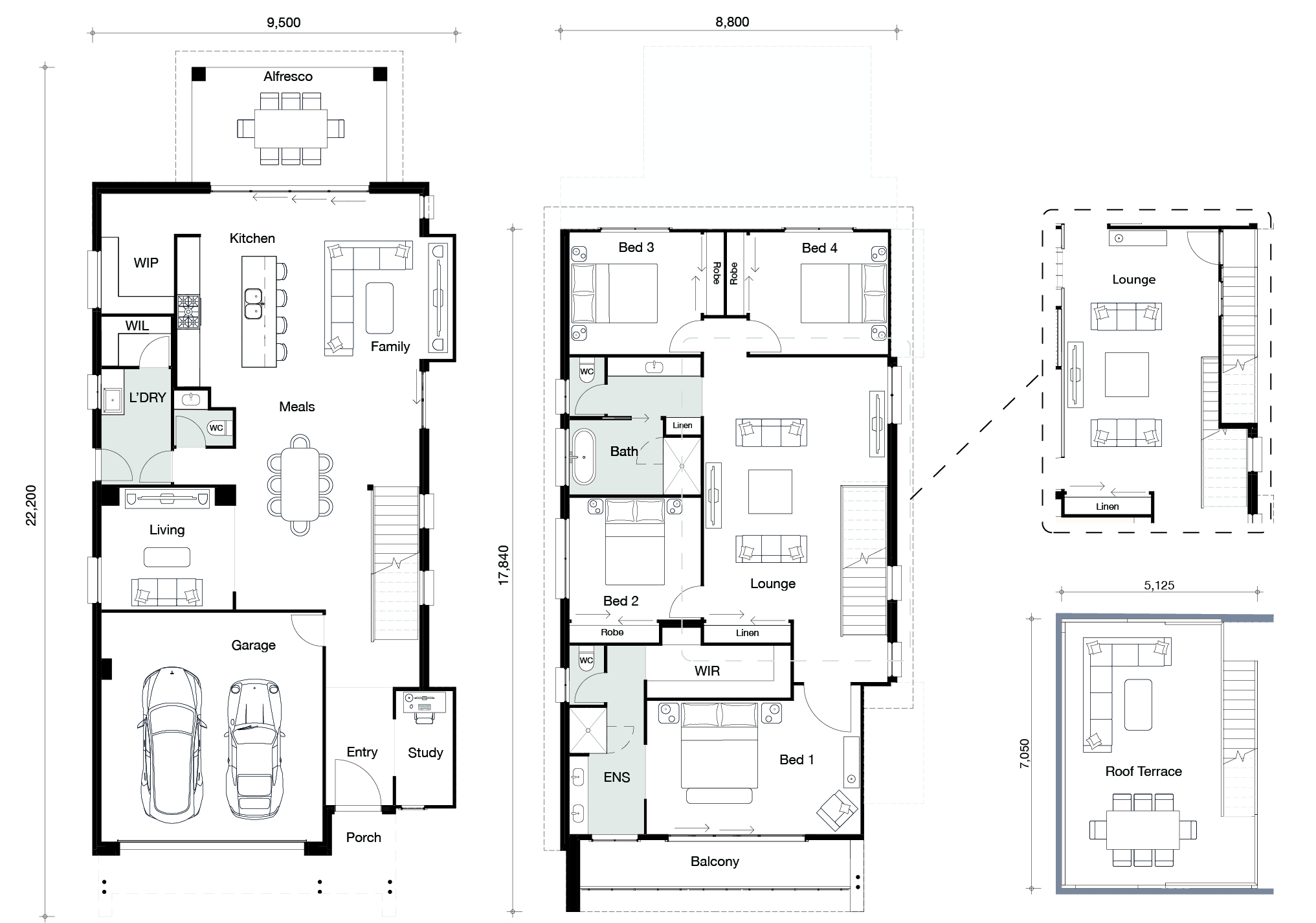 Floor plan for Bayview home