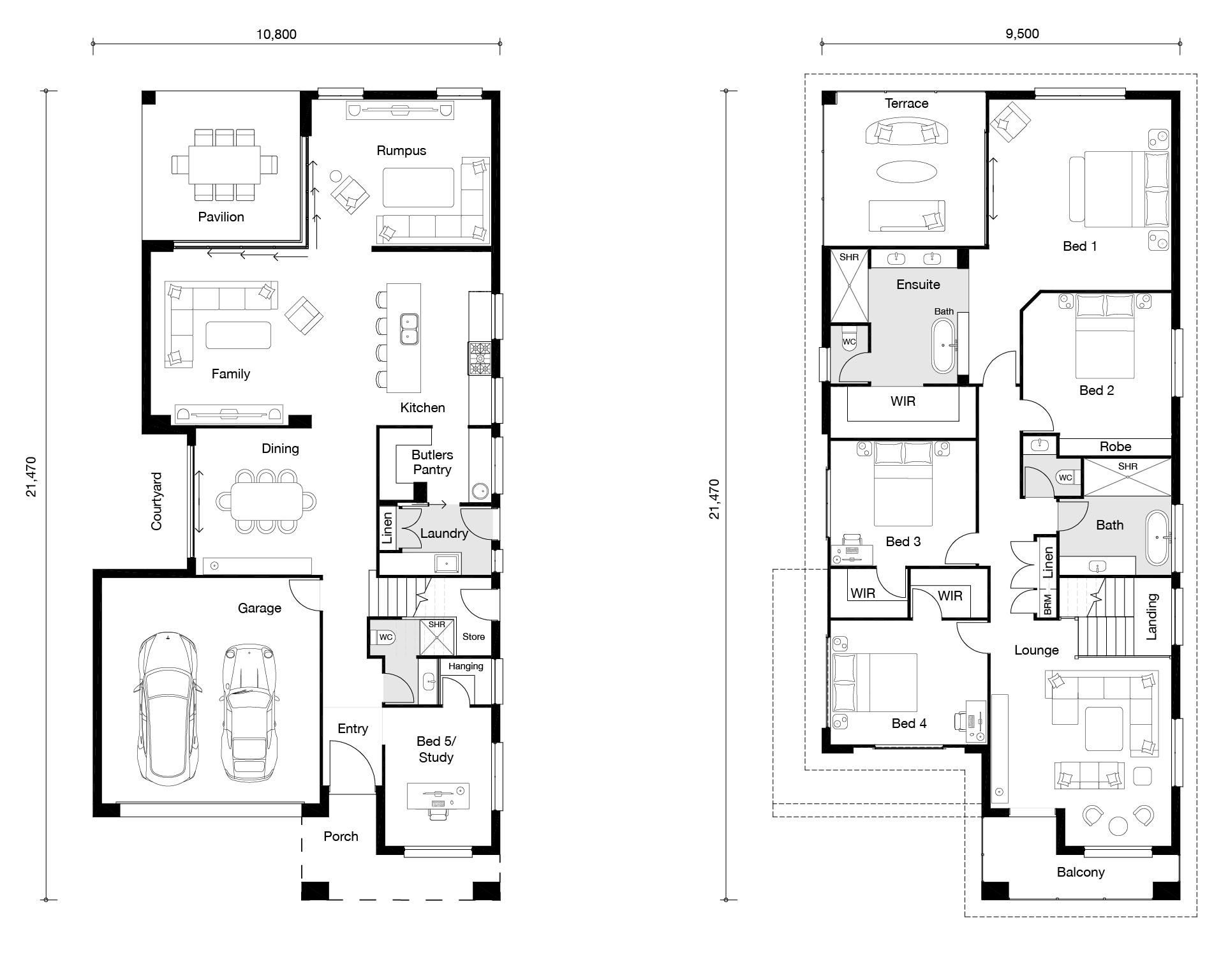 Floor plan for Claremont home