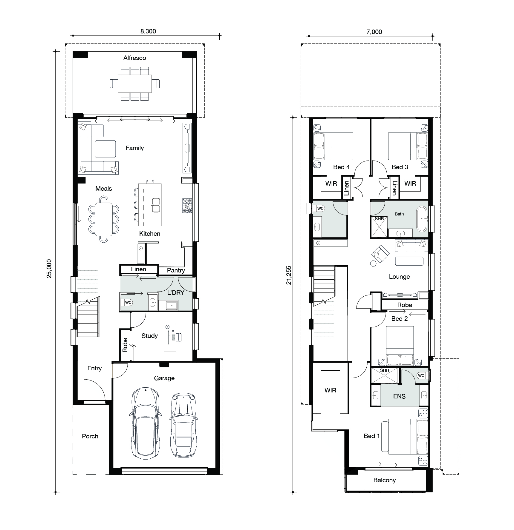 Floor plan for Hamilton 317 home
