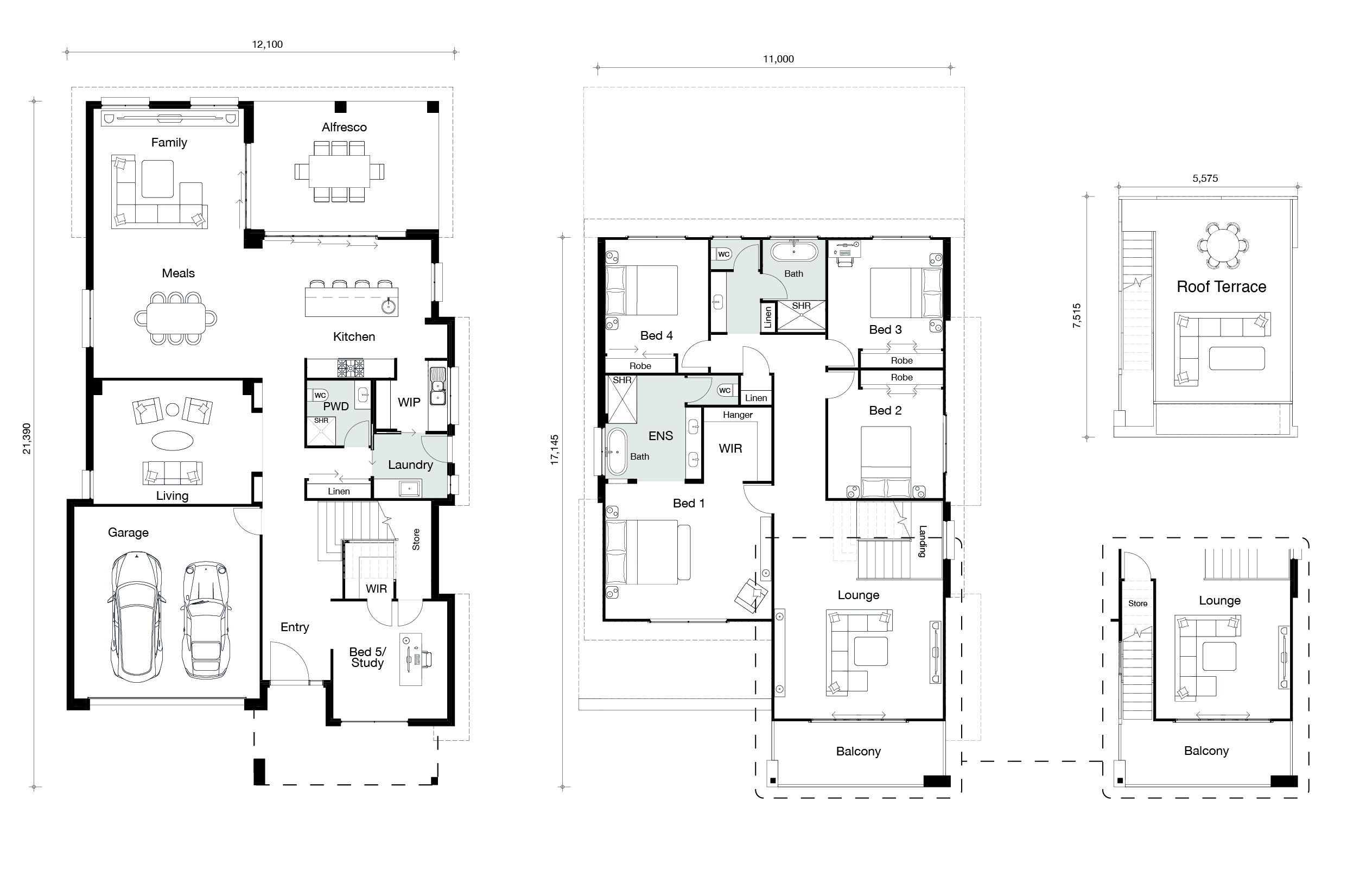 Floor plan for Horizon home