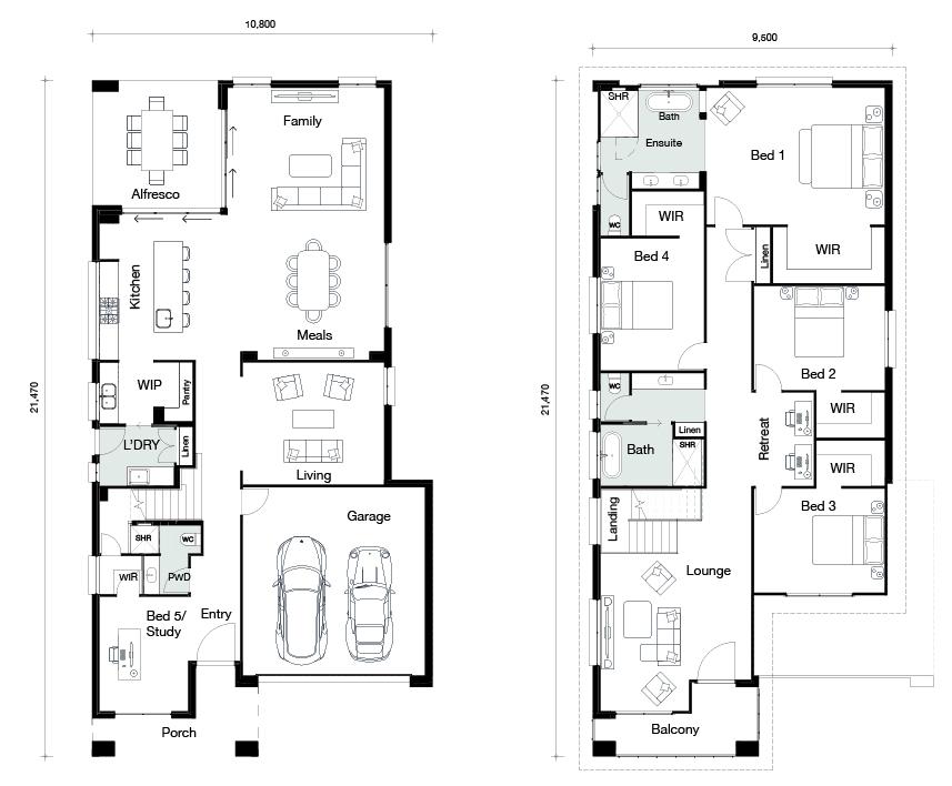 Floor plan for Aspen home