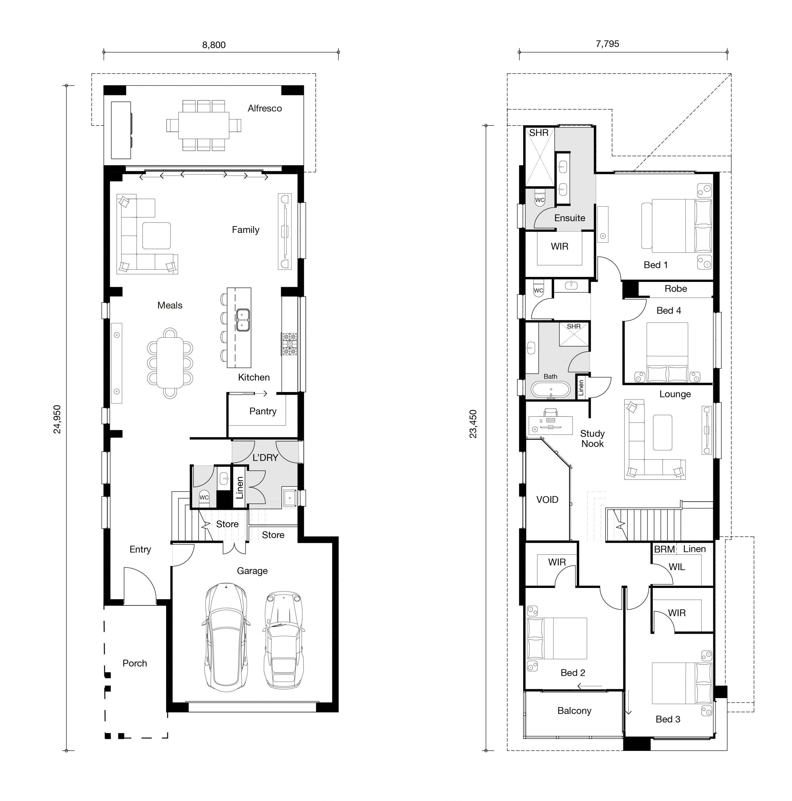 Floor plan for Bentley home