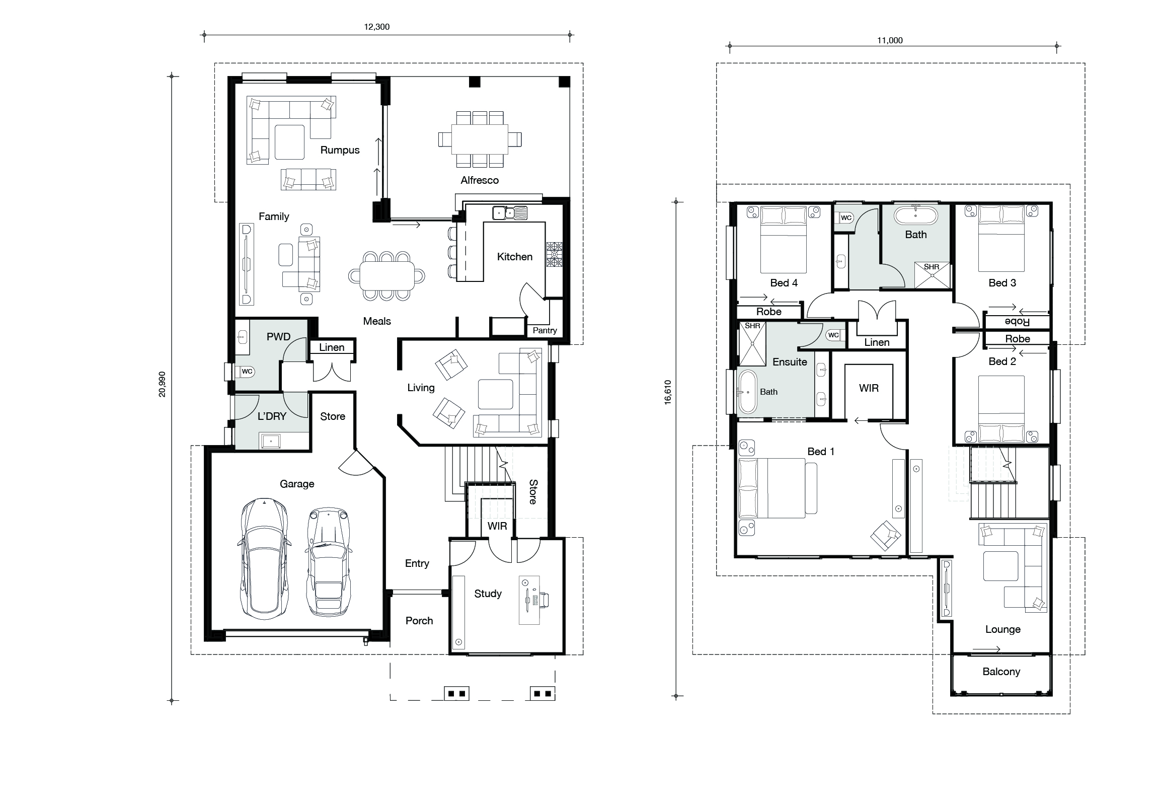 Floor plan for Hampton Fairview home