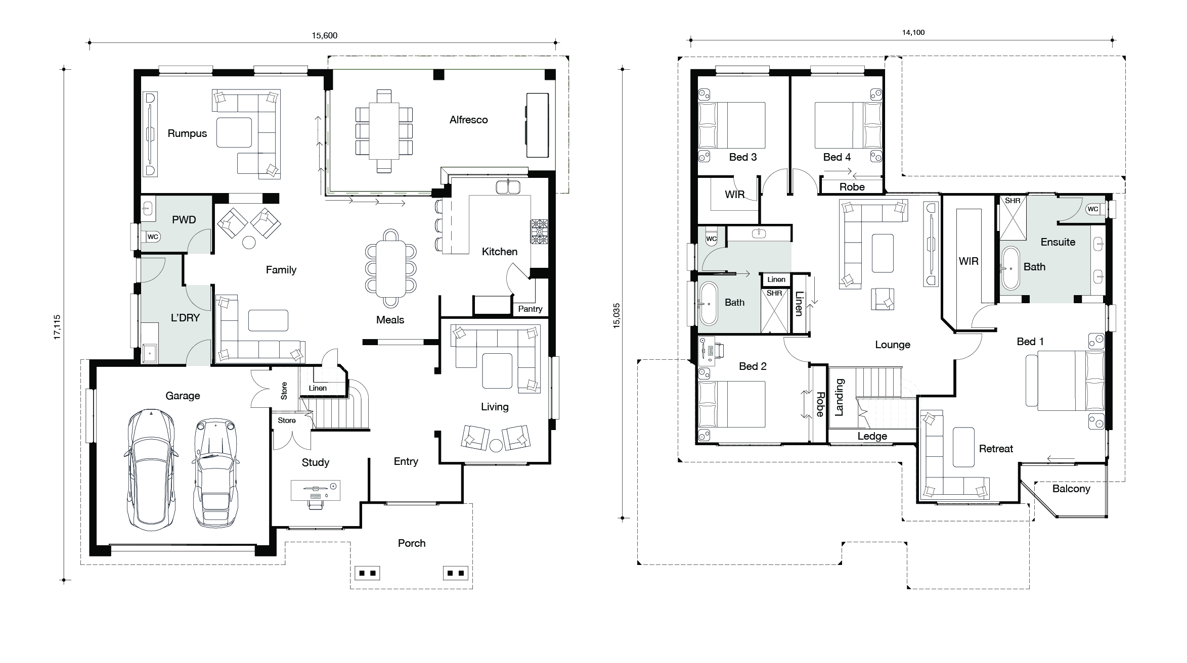 Floor plan for Hampton East home