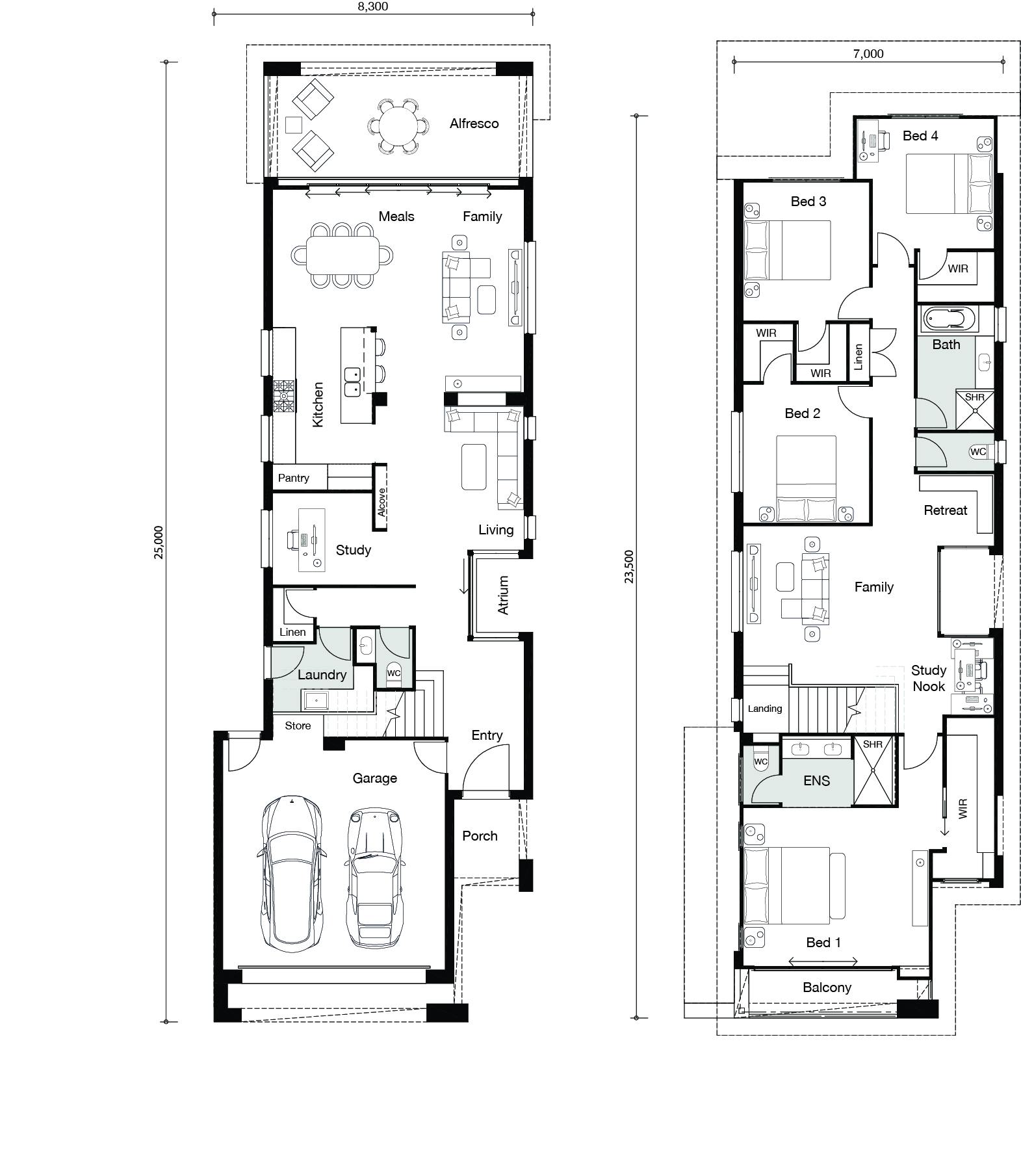 Floor plan for Palazzo home
