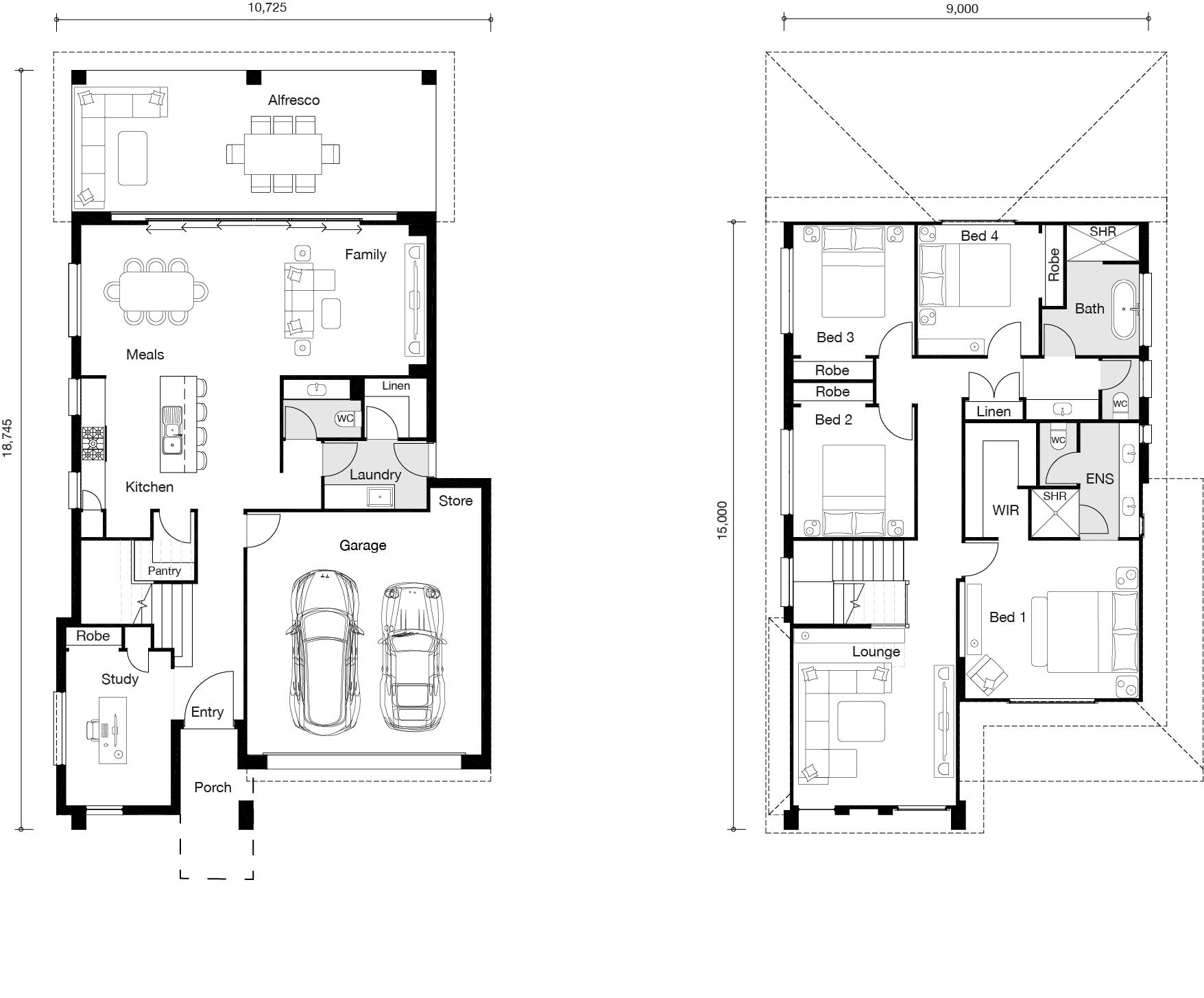 Floor plan for Parkview Entertainer home