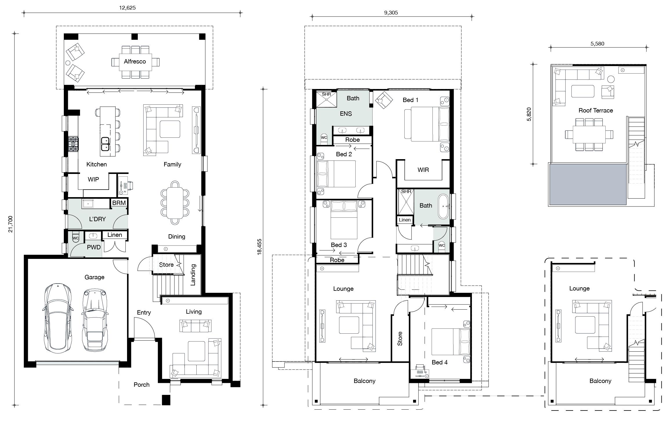 Floor plan for Skyview home