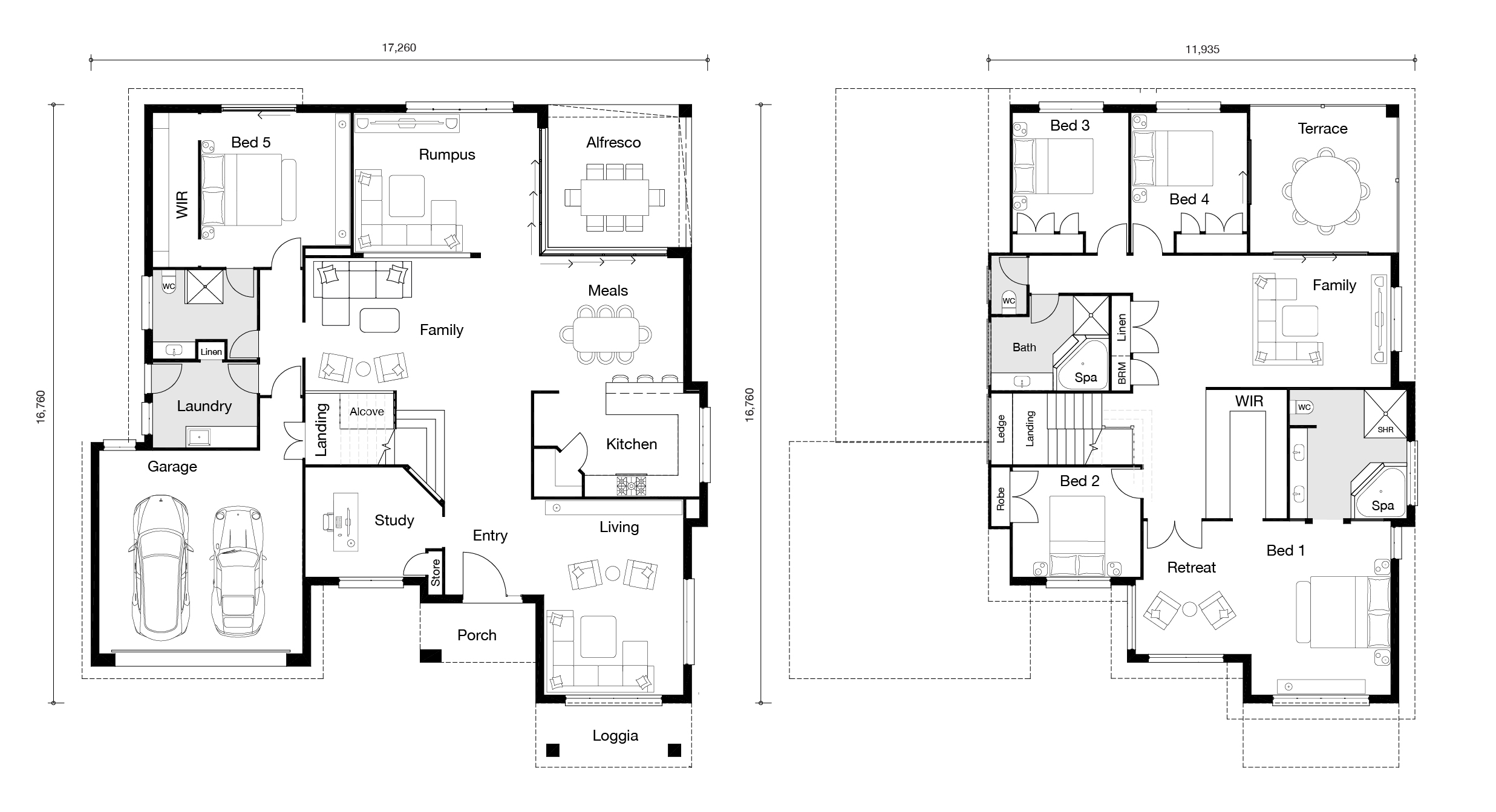 Floor plan for Grande 5 home