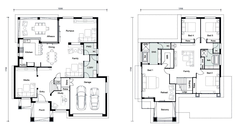 Floor plan for Parklane Royale home