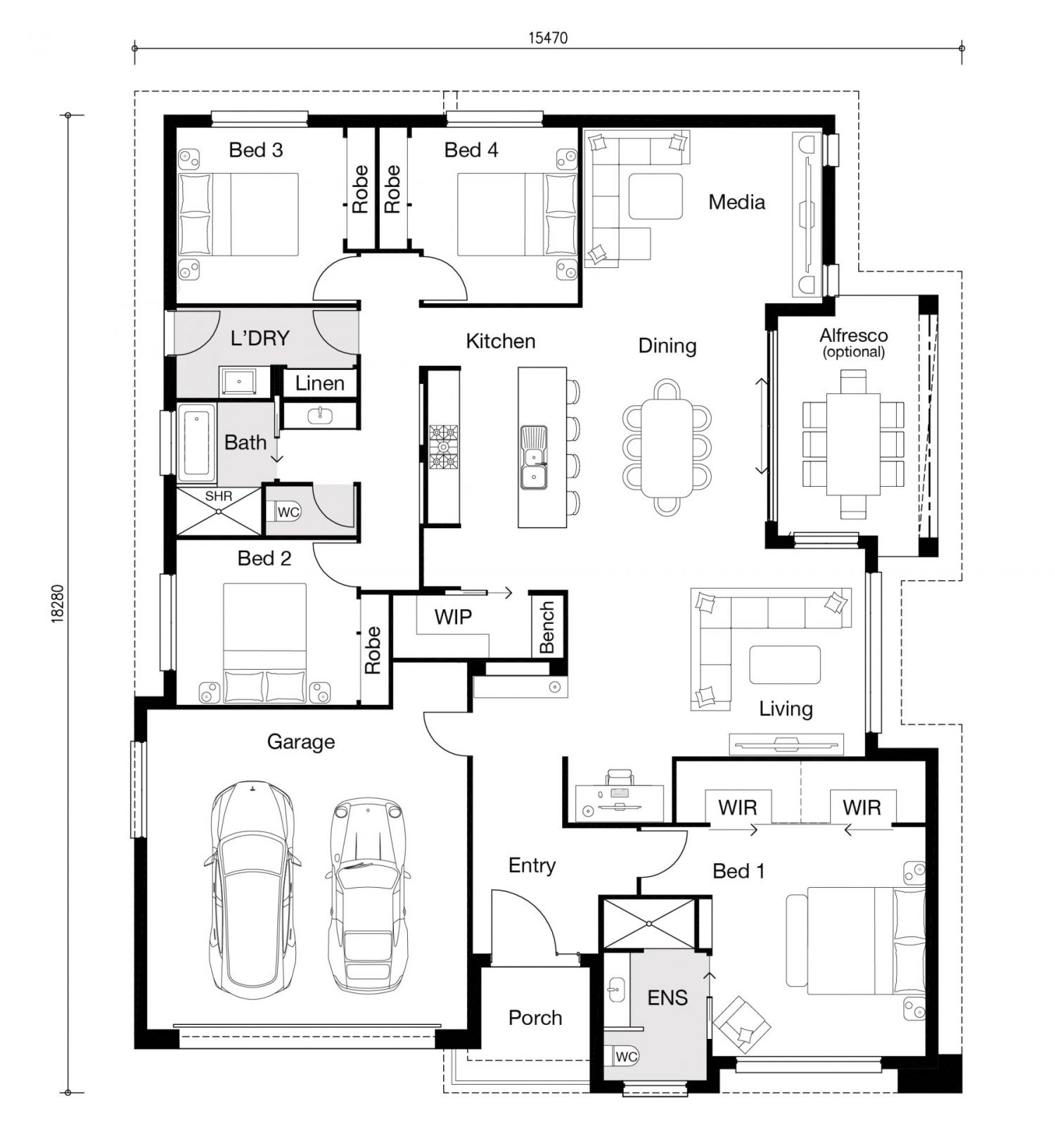 Floor plan for Retreat home