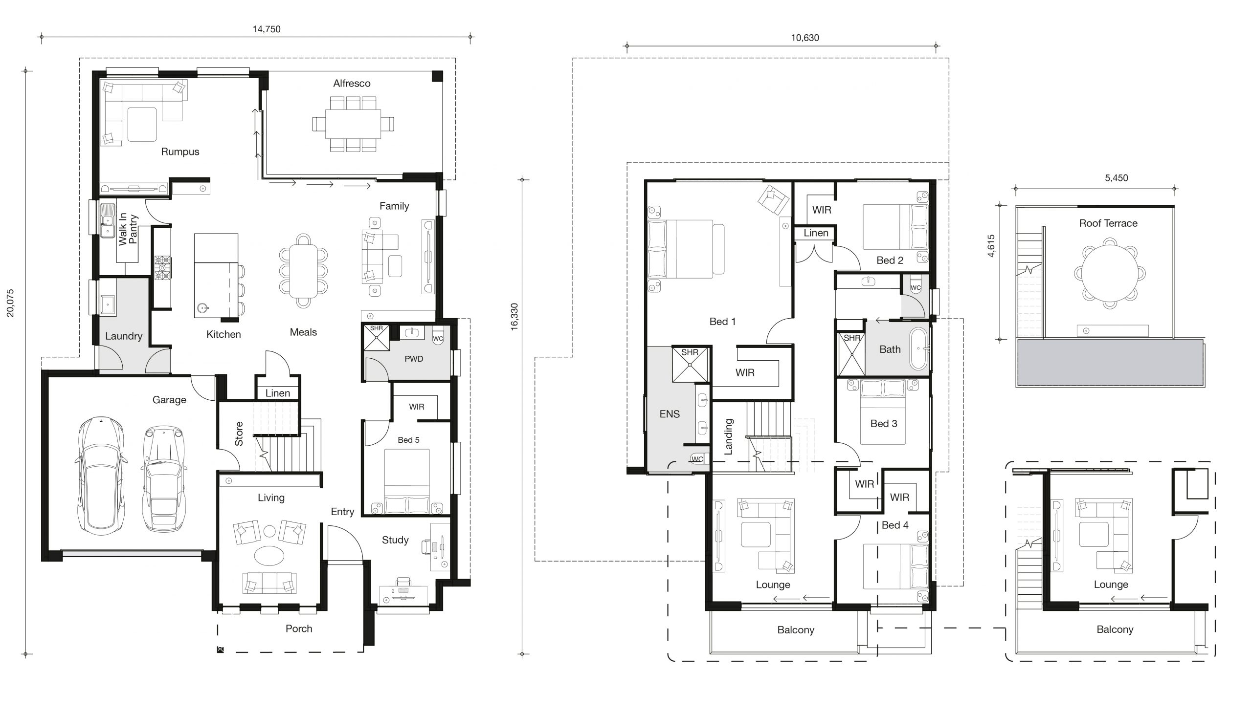 Floor plan for Panorama home