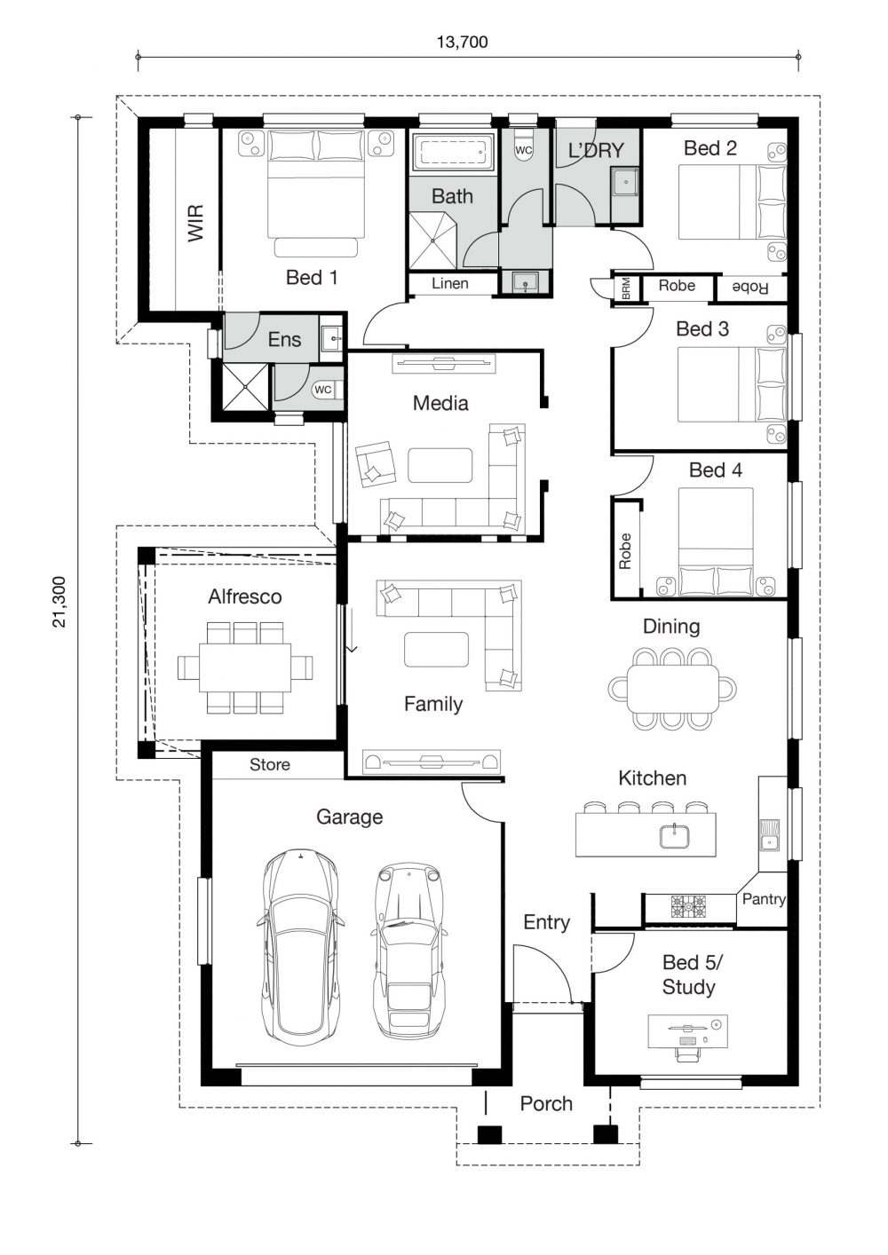 Floor plan for Anjelita home