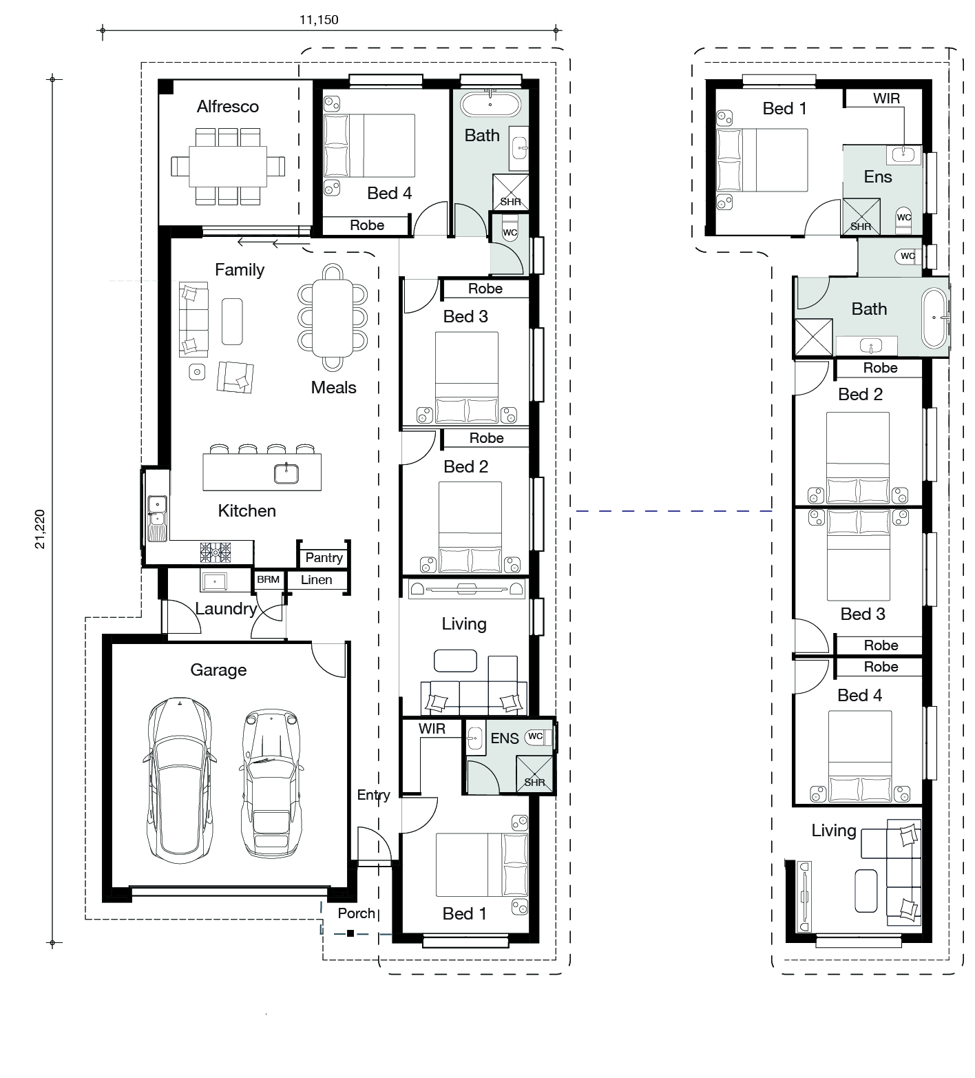 Floor plan for Ascot home