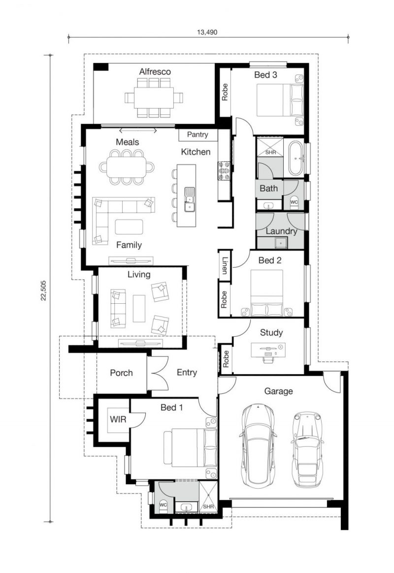 Floor plan for Maddalena home
