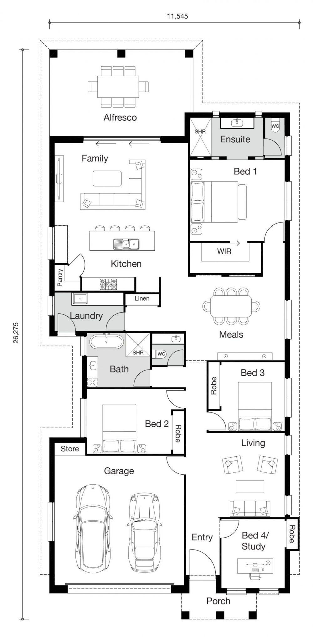 Floor plan for Jasmine home