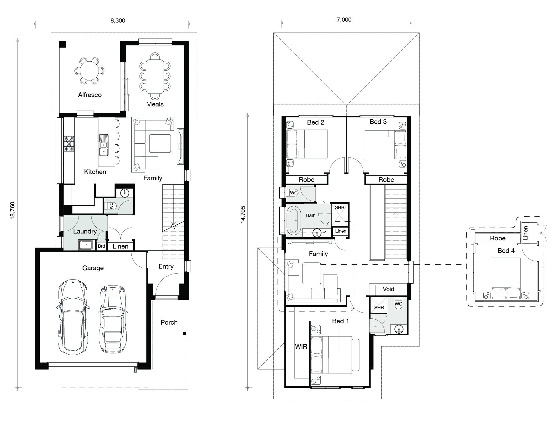 Floor plan for Milan home