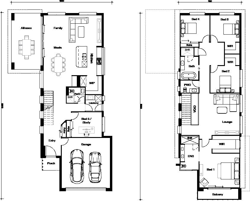 Floor plan for NEW Hamilton 345 home