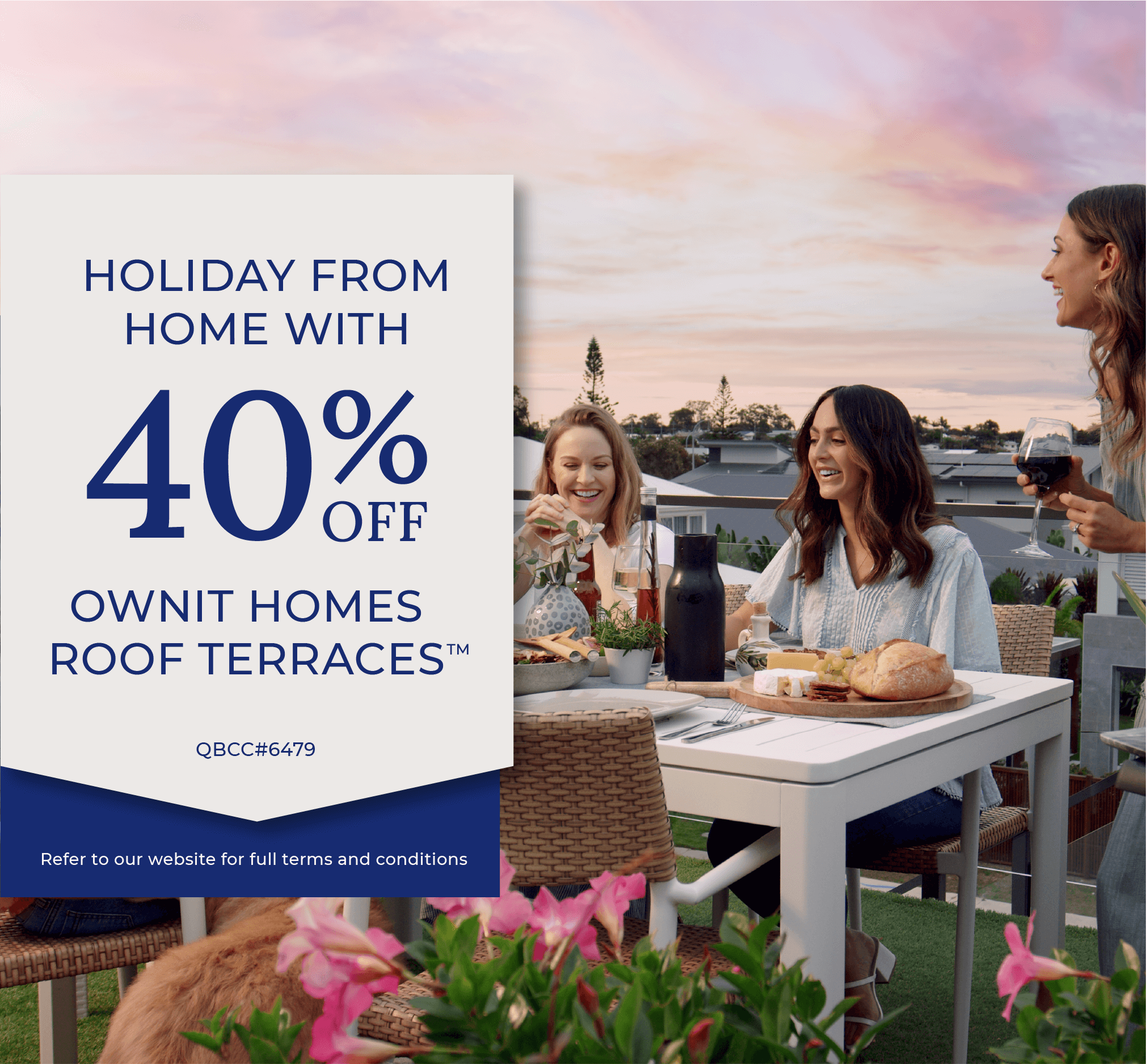 Marketing Image for 40% off Roof Terraces promotion